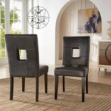 mendoza keyhole back dining chairs set of 2 by inspire q bold today overstock 5178479