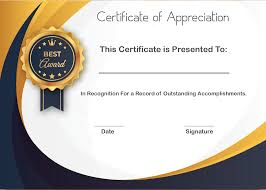 5 Sample Certificate Of Appreciation Form Template