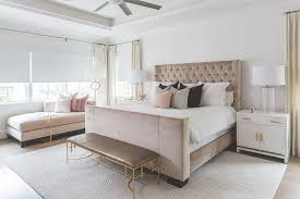 gray and brown bedroom. pink and brown bedroom with gray leather bench w