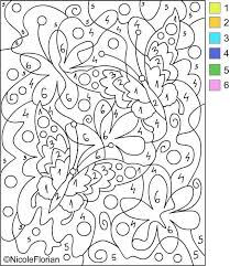 In Adult Color By Number Pages Coloring Pages For Children