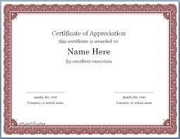 Free Editable Certificate Of Appreciation Template 1914
