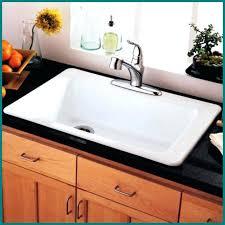 white porcelain drop in kitchen sink
