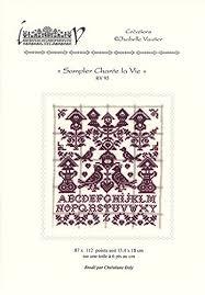 Isabelle Vautier Free Charts Sampler Chante La Vie Chart Amazon Co Uk Kitchen Home