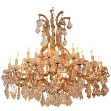 french frosted and cut glass crystal six arm chandelier for