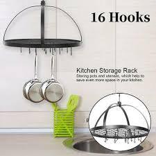50cm kitchen wall mounted pan pot rack