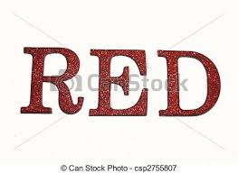 Word In Red Red