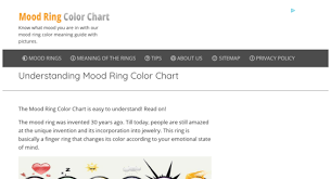 You Re In The Mood Ring Color Chart Moodringcolorchart Com Website Sold On Flippa Mood Ring