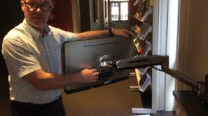 <b>Ergotron wall mount</b> articulating monitor arm demo - YouTube