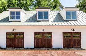 rustic garage designs garage farmhouse with glass garage door wood garage doors standing seam metal roof