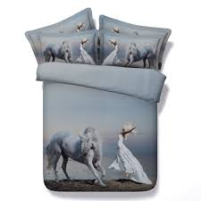 baby nursery glamorous horse show pink kids girls reversible single duvet quilt cover bedding set