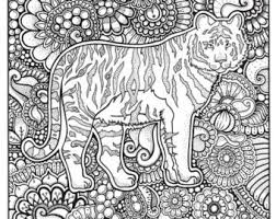 Small Picture Tiger coloring page Etsy