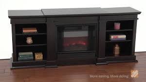 real flame fresno dark walnut electric fireplace and entertainment center the home depot you