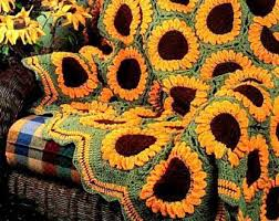 Crochet Sunflower Pattern Impressive Crochet Sunflower Etsy