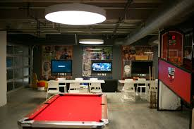Home Interiors:Brown Table Design For Game Room With Modern Rug Design  Ideas Gray Wood