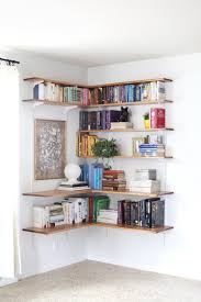 a beautiful mess build organize a corner shelving system