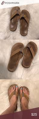 Light Brown Rainbow Sandals Rainbow Leather Sandals In Light Brown Gently Used Light