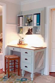 white desk in kitchen.  White Wall Mounted Kitchen Hutch  Feature By Pretty Handy Girl Intended White Desk In E