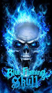 Skull Desktop Blue Fire Wallpaper ...