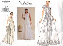 Wedding Dress Patterns To Sew Delectable Popular Wedding Dress Sewing Patterns With Vogue Pattern Bridal