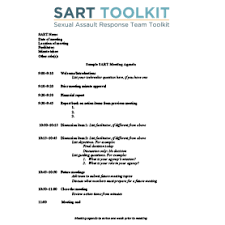 Sample Of Agenda Sample Sart Meeting Agenda National Sexual Violence