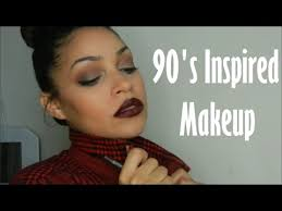 90 s inspired makeup tutorial how to wear a brown lip