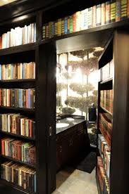 Interior:Awesome Secret Room Design With Wooden Bookaase Door And Cream  Flooring Ideas Small Hidden
