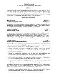 Oracle Resume Sample Oracle Pl Sql Developer Resume Reference Sql Developer Resume Sample 2