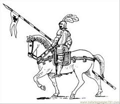 Small Picture Knight Horse05 Coloring Page Free knights Coloring Pages