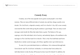 comedy essay a level drama marked by teachers com document image preview