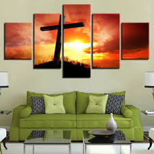 image is loading large framed cross sunset christian canvas wall art  on large christian canvas wall art with large framed cross sunset christian canvas wall art home decor five