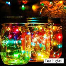 Mason Jar Twinkle Lights Advocator Solar Mason Jar Lid String Lights 6 Pack 20 Led Colorful String Fairy Star Firefly Jar Lids Lights For Regular Mouth Jars Patio Garden