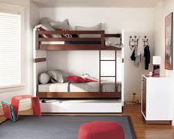 Modern Kids Moda Bunk Beds With A Pullout Mattress Underneath Stool  Magazine Rack Big Pillows On The Less Used Bed Design Your Own ...