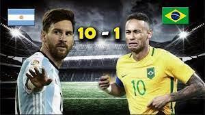 Argentina - 10 VS Brazil - 1 ...