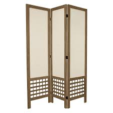kavari canvas  panel room divider  rosewood  hayneedle