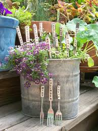 herb veggie markers made with recycled silverware set of 6 over 30 varieties