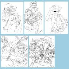 Bộ Tranh tô màu Anime One Piece - Dành cho các Fan của One Piece yêu thích  sáng tạo giảm chỉ còn 25,000 đ
