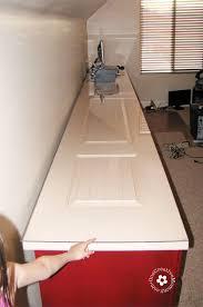 build a family computer desk on a budget desktop from closet doors onecreativemommy