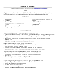 Clerical Resume Objectives Clerical Administrative Resume Samples Zaloy