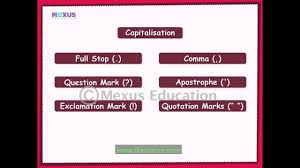 Learn Use Of Punctuation English Grammar Video Youtube