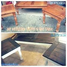 refurbished coffee table revamp photo design diy wooden makeover