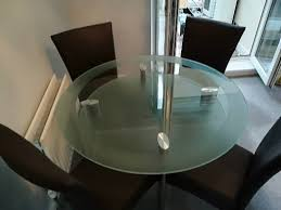 harveys round glass dining table 4 chairs