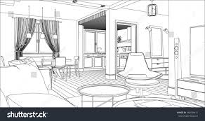 architectural design drawings. Living Room Interior Drawing. Architectural Design. Design Drawings