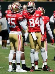 San Francisco 49ers Randy Moss Michael Crabtree Form Bond