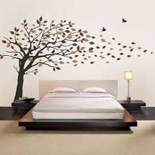 on vinyl wall art decals graphics stickers with blowing leaves tree decal scheme b
