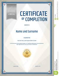 free certificate of completion template 016 certificate completion template portrait green blue theme free