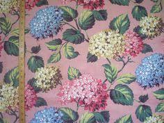 Beautiful blue hydrangea quilt fabric - would make a great garden ... & 1950's Hydrangea Fabric Adamdwight.com