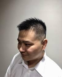 スキンフェードスタイルヘアカタログ高級理容室 床屋 ヒロ銀座