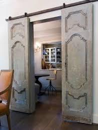 antique double pocket doors. Vintage Doors Mounted On Barn Door Hardware Antique Double Pocket