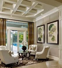 upscale coastal beach home decor living room sitting area great curtains love 4 chairs with coffee table big bold botancial prints