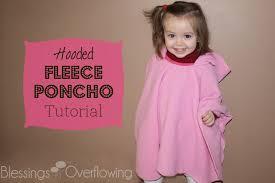 Fleece Poncho Pattern With Hood Mesmerizing Hooded Fleece Poncho Tutorial Blessings Overflowing
